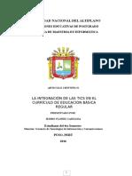 Artículo Integracion TIC en El Curriculo