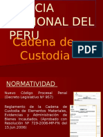 Exposicion Cadena de Custodia