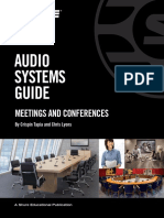 Audio Systems Guide for Meetings and Conferences