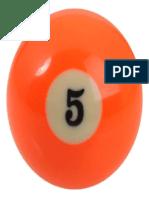Number 5 Billiard Ball 320x320