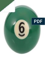 Number 6 Billiard Ball 320x320