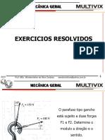 Mecânica Geral - Exercicios Resolvidos
