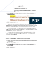 Asignación 1 Español