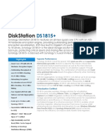 Synology DS1815plus Data Sheet