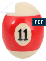Number 11 Billiard Ball 320x320