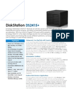 Synology DS2415plus Data Sheet