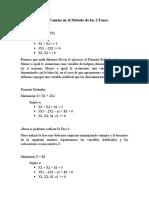 Metodo de Las 2 Fases Ejemplo práctico