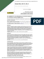 El Ambiente y El Desarrollo Sustentable en La Ciudad Latinoamericana _ Sandia Rondón _ Investigación & Desarrollo