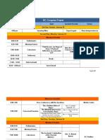 IEC Congress Proper Schedule