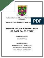 Survey on Bata Sales Staff