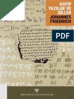 ++ Johannes Friedrich - Kayıp Yazılar ve Diller
