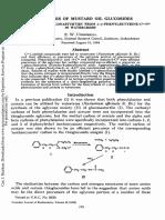 Biosynthesis of Mustard Oil Glucosides