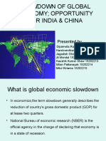 Slowdown of global economy, opportunity for india & china