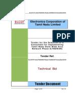 Tender ELCOT IT Infra TNSWAN Phase 3 32929 OT Consultant 2016