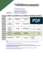 MEM Timetable AY2016-2017 Semester 1