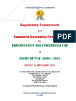 Regulatory Framework a SOP for Commercial Use of ROW 2