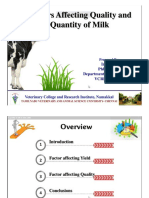 Factor Affecting Milking by Dr Irshad