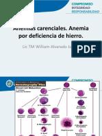 Clase 1 Anemias Carenciales . Deficiencia de Hierro