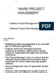 Software Project Management Basics and Risk Management