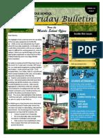 MS Parent Bulletin (Week of September 12 to 16)