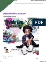 LYRICS_ Stonebwoy- People Dey _ Latest Ghana Music