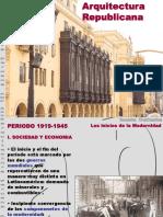 ARQUITECTURA 1919-1945