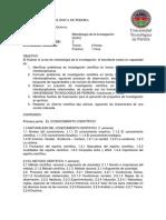 Metodología de La Investigación Programa Académico
