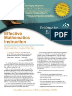 Effective Mathematics Instruction