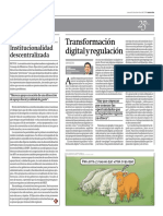 Transformación digital y regulación por Óscar Montezuma