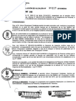 RESOLUCION DE ALCALDIA 117-2010/MDSA