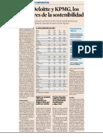 PwC, Deloitte y KPMG, los auditores de la sostenibilidad