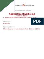 Applicatie- En Mediaontwikkelaar