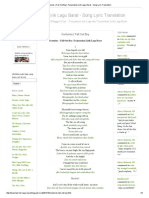 Terjemahan Lirik Lagu Barat - Song Lyric Translation