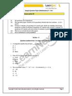 CBSE Class 10 Maths SA1 Sample Paper 2