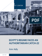 Egypt's Regime Faces an Authoritarian Catch-22