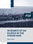 In Search of an EU Role in the Syrian War