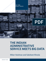 The Indian Administrative Service Meets Big Data