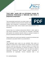 T01.07.01 E0016 - Principais Causas de Problemas Financeiros e Falencias Das MPEs