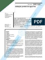 NBR 05626 - 1998 - Instalações prediais de agua fria.pdf