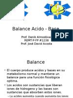 Balance Acido Base