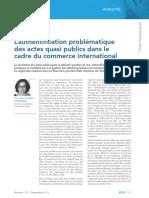 L'Authentification Problématique Des Actes Quasi Publics