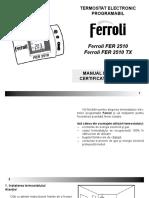 Centrala Ferroli - Manual de Utilizare