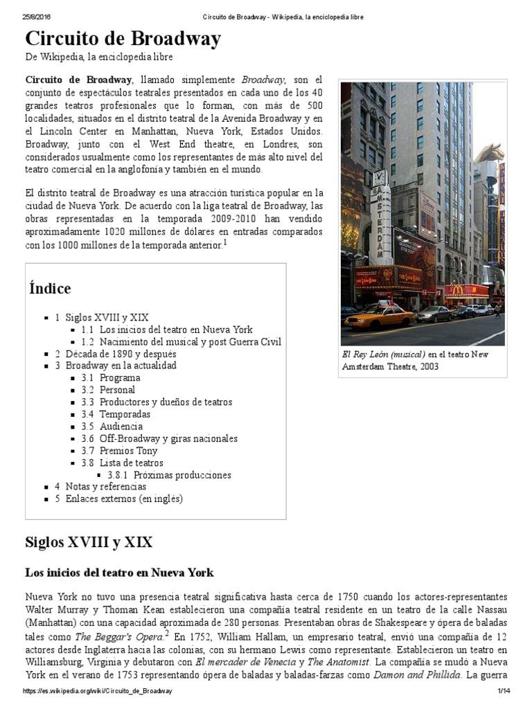 Circuito Wikipedia : Circuito de broadway wikipedia la enciclopedia libre pdf
