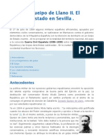 Gonzalo Queipo de Llano II. El Golpe de Estado en Sevilla.