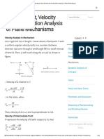 Displacement, Velocity and Acceleration Analysis of Plane Mechanisms