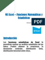 05 Excel 2013 - Funciones Matemáticas y Estadísticas