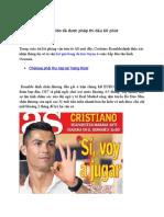 Ronaldo da  duoc  Phep Thi dau 60 Phút