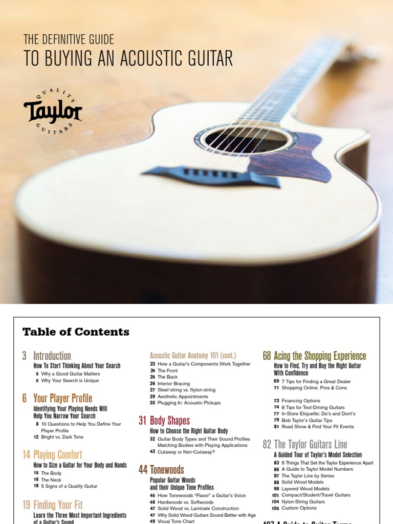 Taylor Acoustic Guitar Buyers Guide | Guitars | String