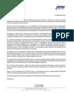 Carta El Mostrador Achet