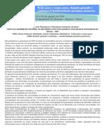 Carta Da Assembleia Nacional Do Movimento Dos Pescadores e Pescadoras Artesanais Do Brasil – Mpp 2
